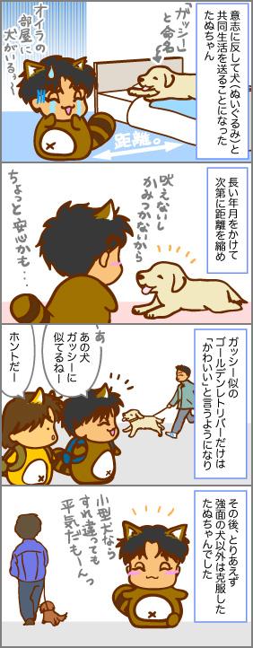 たぬちゃんは犬嫌い~その4~